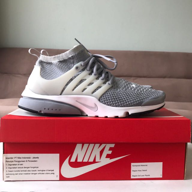 Nike Air Presto Flyknit Ultra Grey Size 44