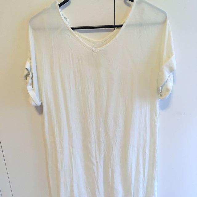 Ottomode white tunic top