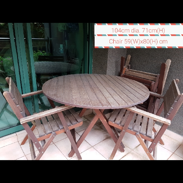 Outdoor Garden Table 4 Chairs Furniture Tables Chairs On Carousell
