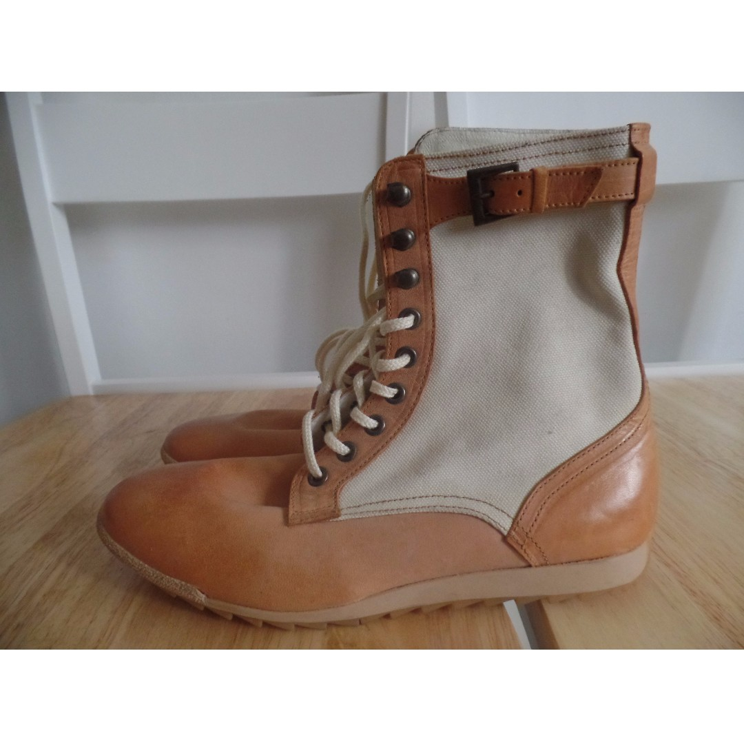 Patrick Leather and Canvass Boots