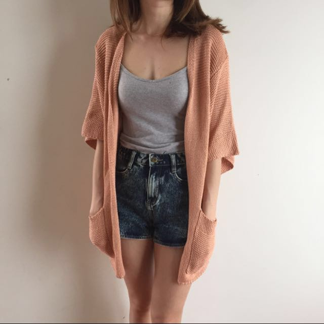 Peach Knit Jacket