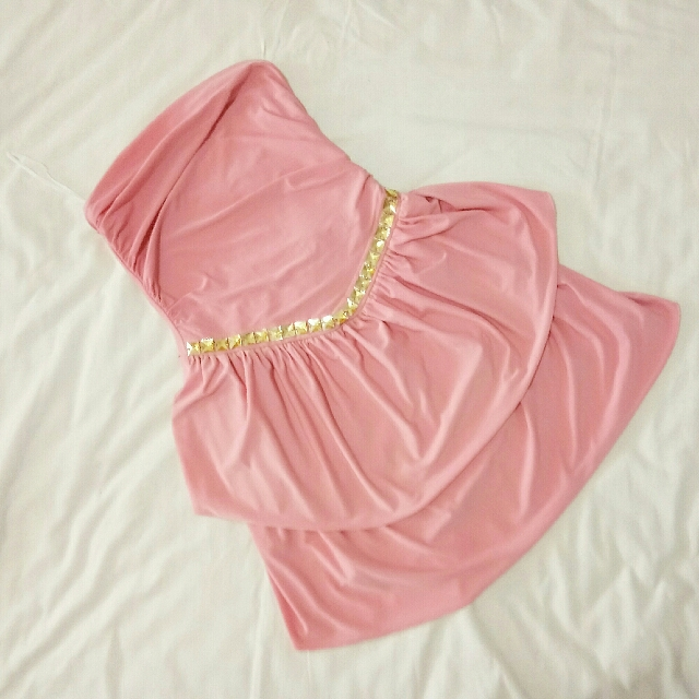 Pink Tube Party Dress