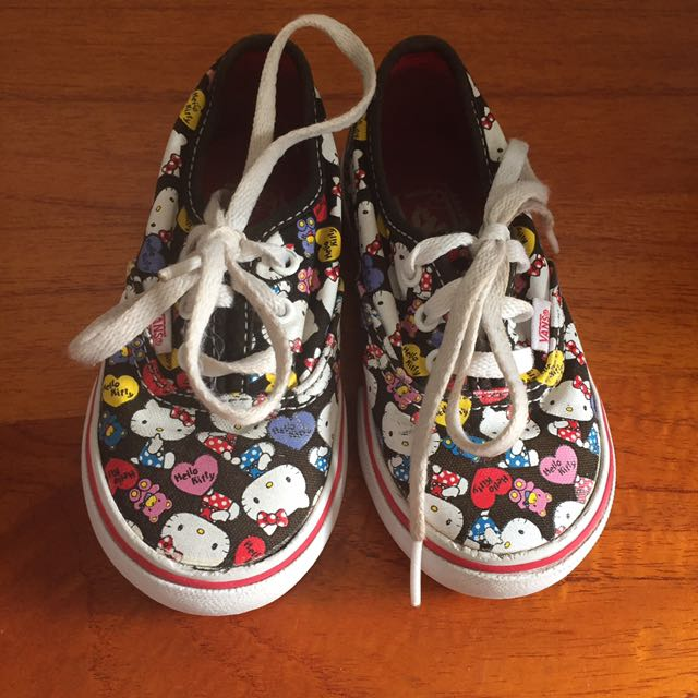 preloved vans authentic hello kitty for toddler