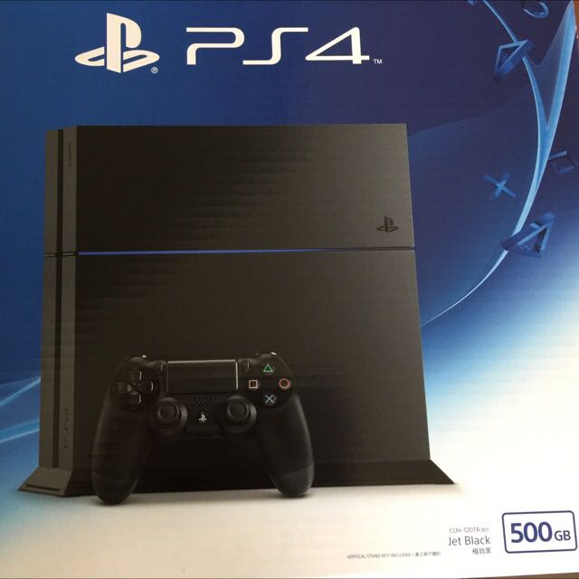 PS4 主機。極致黑 + 兩個把手 500GB