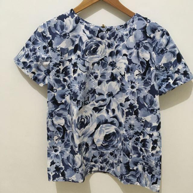 Ramune - Gray Flower Top