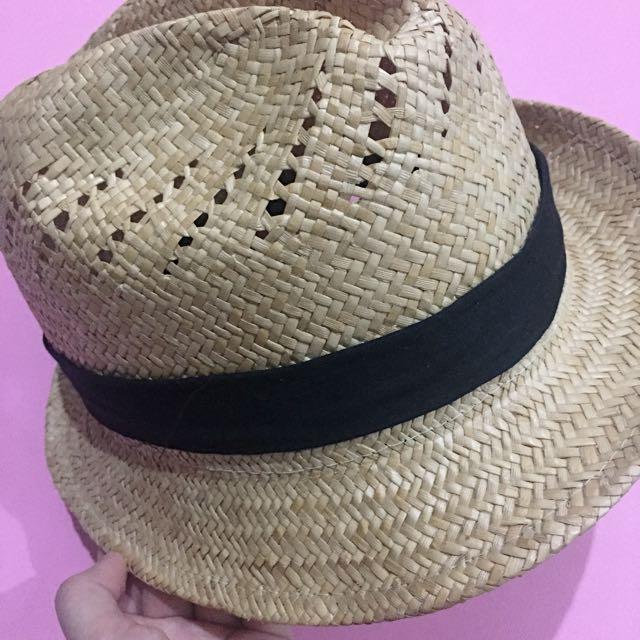 Rattan Fedora Hat