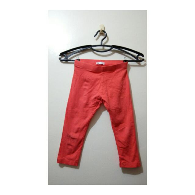 RED KIDS LEGGINGS