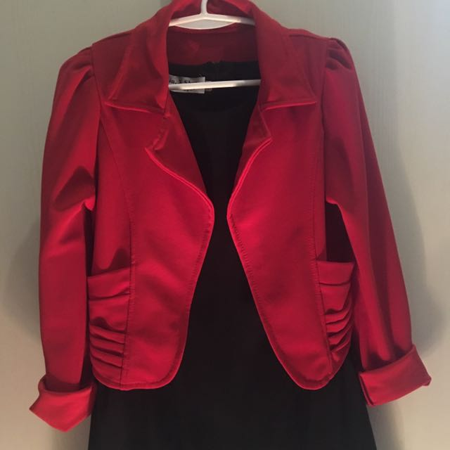 Red Office Blazer