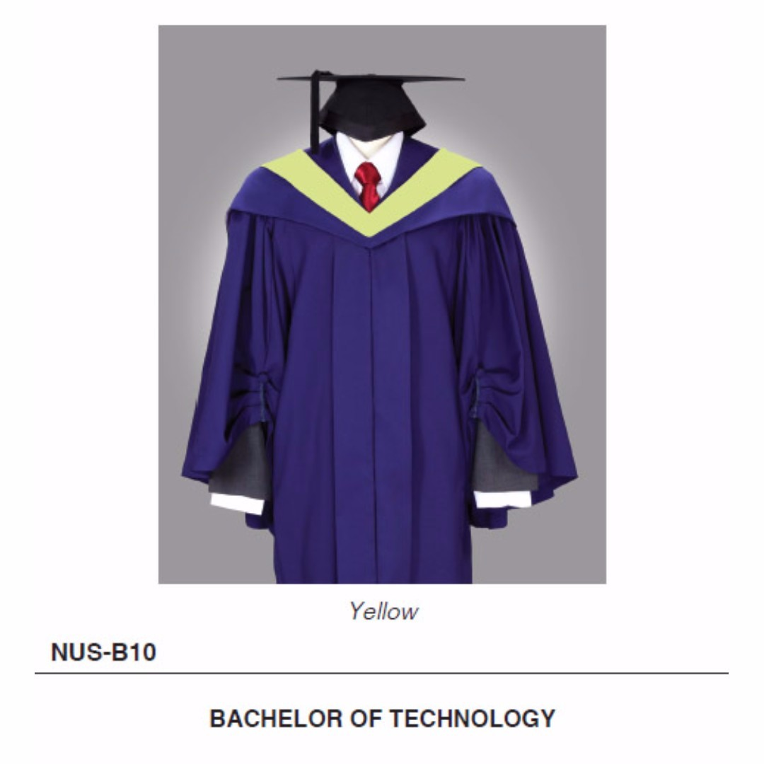 Rent NUS Bachelor of Technology Commencement Graduation Gown with ...