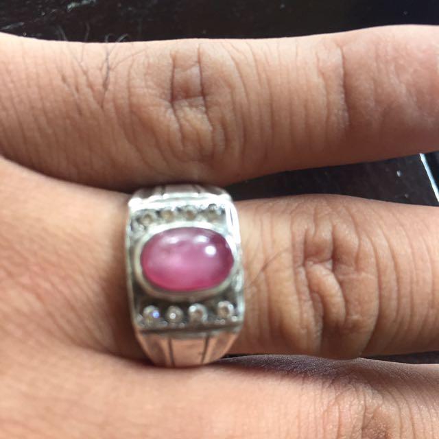 Ruby ring perak