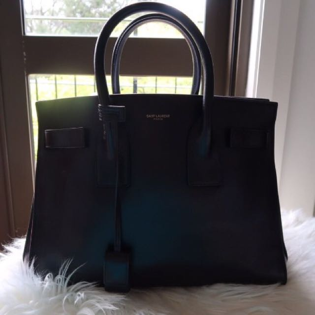 Saint Laurent Sac De Jour Black Medium Leather