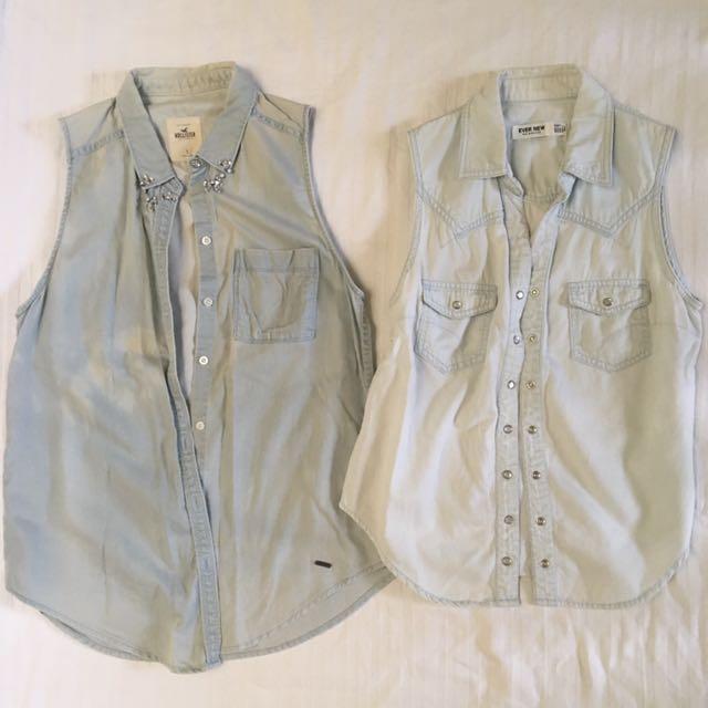 Sleeveless Thin Jean Jacket