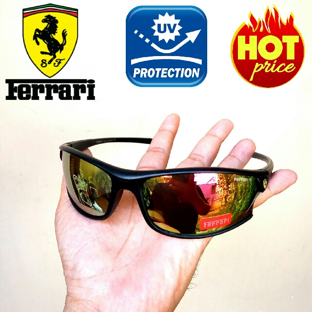 Sports Sunglasses Kacamata Ferrari Anti Uv Protection 969a4d37d2