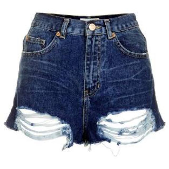 TOPSHOP RIPPED SHORT
