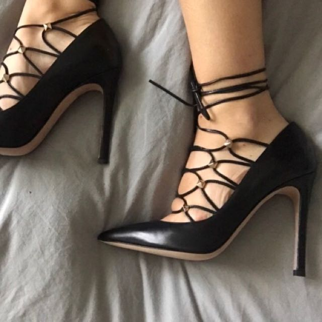 Valentino Lace up Pumps