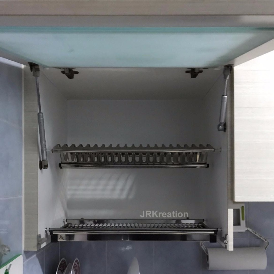 With Installation Stainless Steel Dish Rack For Kitchen Cabinet Home Appliances On Carousell