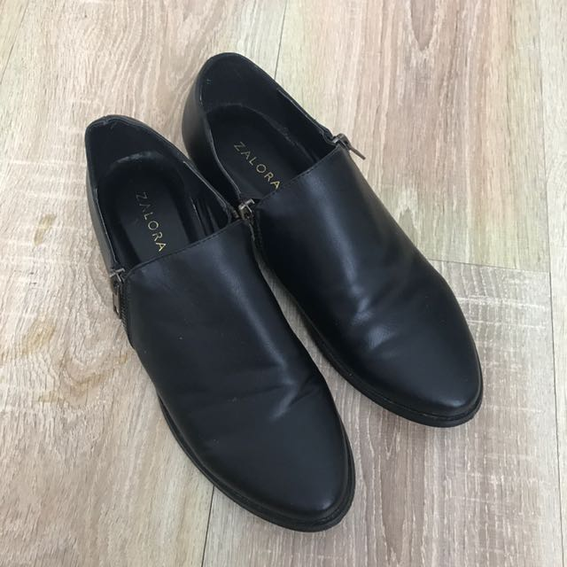 ZALORA Leather Booties
