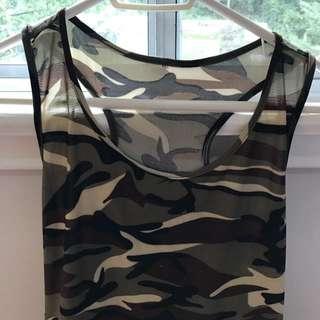 Camo print tank top