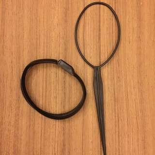 pull pin hair bun maker / french hair bun maker