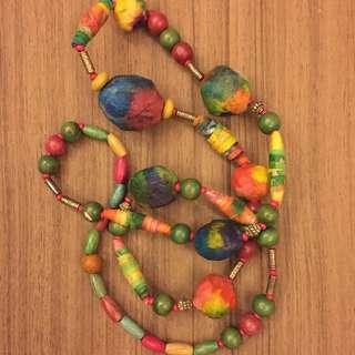 sri lanka barefoot galaxy colourful long necklace