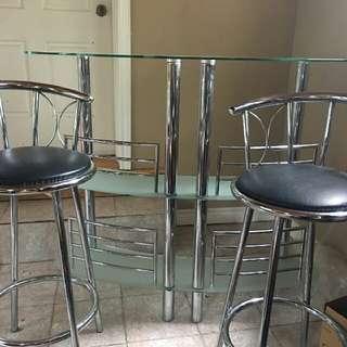 Mini Bar And 2 Stools
