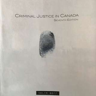Guelph Humber justice studies Criminal Justice in Canada