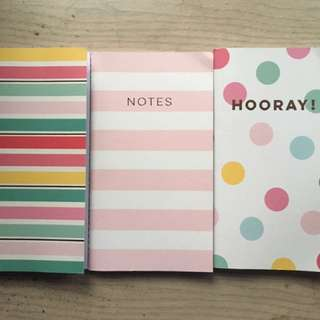 Cute small notebooks