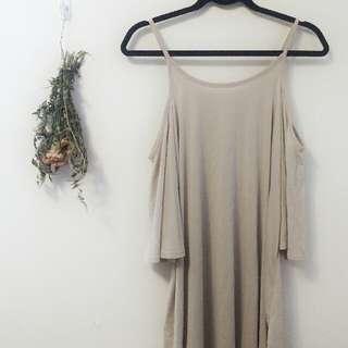 Casual tan nude dress size M