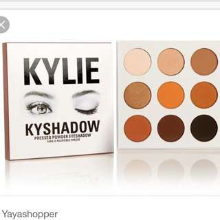 KYLIE jenner eyeshadow the bronze palette