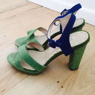 Mi Piaci Blue and green heels