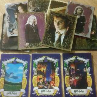 Various Harry Potter 2001 Chocolate Cards & Order Of The Phoenix Stickers.