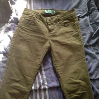 Army Green Jeans - Butt, I Love You