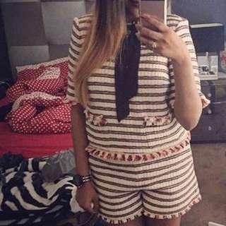 Zara Top And Shorts Set