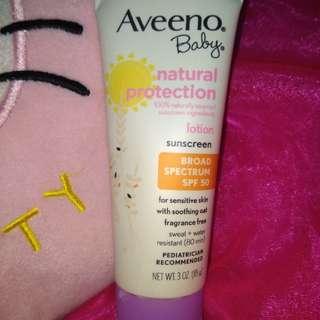 Aveeno Lotion Sunscreen SPF 50 Baby Formula