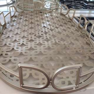 Ex Large Gold Coloured Serving Tray