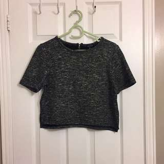 F21 Cropped Knit Top