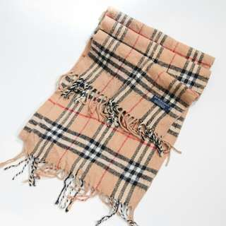 BURBERRY Classic Wool Check Scarf