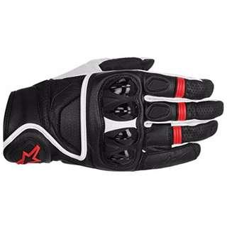 Alpinestars Celer Men's Street Motorcycle Motorbike Gloves - Black/White/Red / Medium