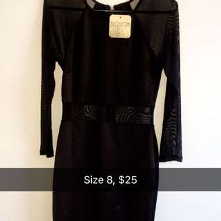 Long Dress With Mesh Size 8