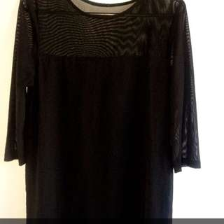 Short Dress With Mesh Size S