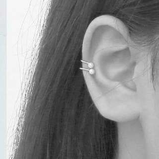 Anting Ear Clip Pearl