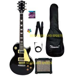 Thomson Les Paul bolt-on with portable amp Package Electric Guitar (black) (COD)