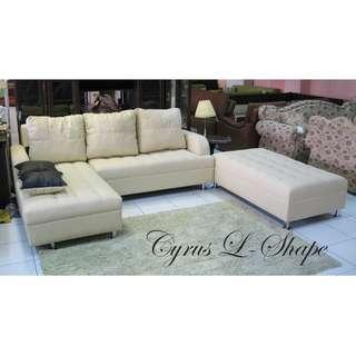 Cyrus L-Shape Uratex Foam Sofa Set Sala Set