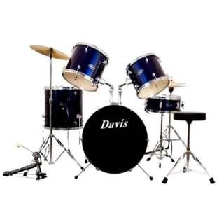 Davis DRUMS-03 Drum Set (Blue)  (COD)