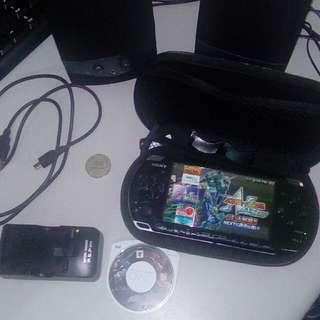 PSP3007(以改)喇叭+遊戲片+五款遊戲