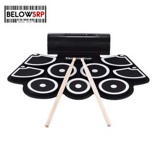 BSRPPortable Pad Musical Instrument Electric Roll Up Drum Kit Set with Speaker (COD)