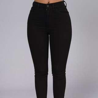 Fashion Nova Black High Waist Jeans