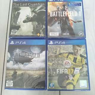 Brand New PS4 Games For Sale $50 Per Title