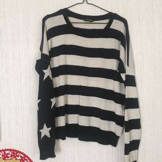 Starry stripes sweater