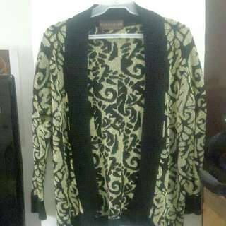 Black & Gold Knitted Cardigan!